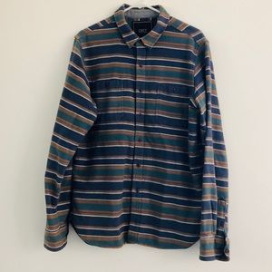 Obey Striped Flannel Large